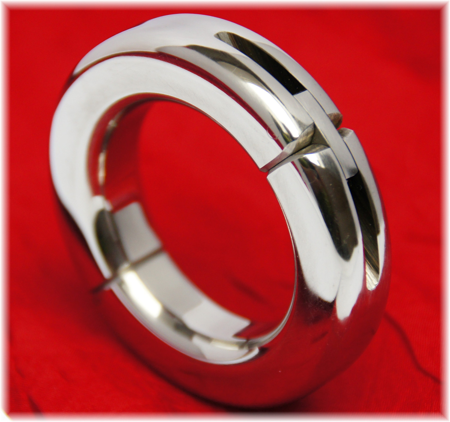 Thick wide metal cock ring penis erection enhancer support prolong sex orgasm us