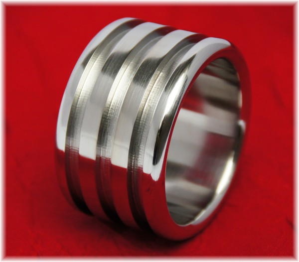 Stainless Steel Cock ring with three grooves