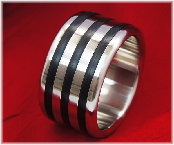 Stainless Steel Cock ring with three Applications