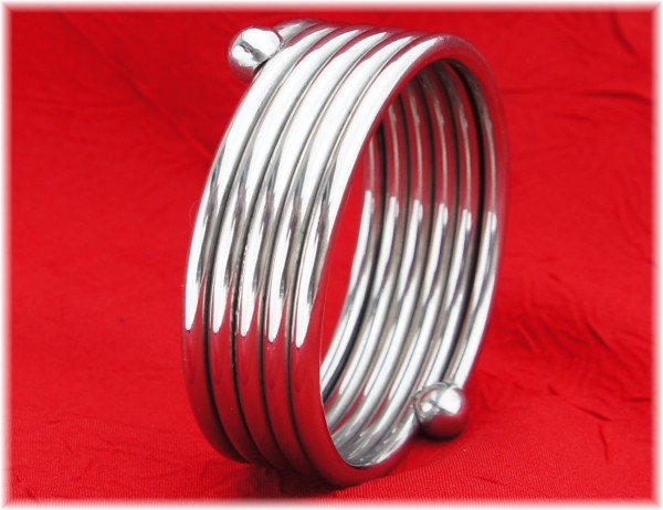 Stainless Steel Cock Ring spiral