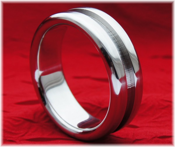 Stainless Steel Cock Ring with groove