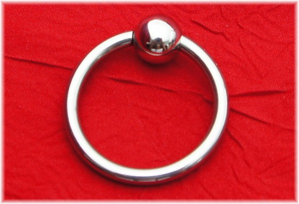 Glans ring with removable ball